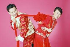 Oupplösligt traditionellt magiskt kinesiskt band Fotografering för Bildbyråer