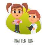 Ouppmärksamhetläkarundersökningbegrepp också vektor för coreldrawillustration Royaltyfria Foton