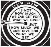Our Aim. Retro Ad Art Banner royalty free illustration