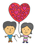 Our balloon heart Royalty Free Stock Images