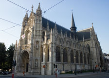 Our Blessed Lady of the Sablon Church, Brussels, Belgium Royalty Free Stock Images
