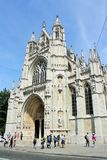 Our Blessed Lady of the Sablon Church in Brussels Royalty Free Stock Photo