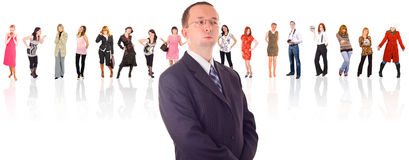 Our Boss is Our God!. Of Business People multiple series Royalty Free Stock Image