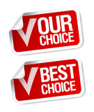 Our choice stickers. Royalty Free Stock Image