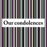 Our condolences. Sending condolences in case of a decease or funeral Royalty Free Stock Photography
