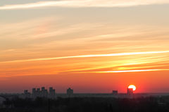Our dawn city Stock Photography