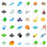 Our earth icons set, isometric style. Our earth icons set. Isometric style of 36 our earth vector icons for web isolated on white background Stock Photo