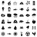 Our earth icons set, simple style Stock Photo