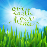 Our earth our home Royalty Free Stock Photos