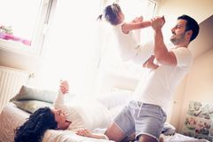 Our family morning routine. stock images