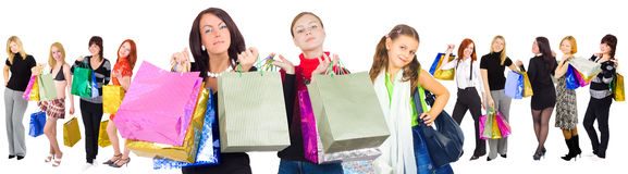 Our family is shopping great! Stock Photos