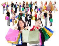 Our family is shopping great! Stock Photography