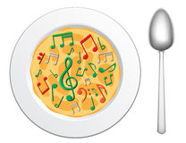 Our food are music2 royalty free illustration