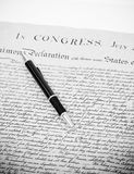 Our Freedom and Rights. With Pen On Declaration Royalty Free Stock Image