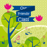 Our Friendly Class background. Cute vector illustration on the theme of school Royalty Free Stock Photography