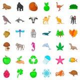 Our globe icons set, cartoon style Stock Photo