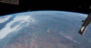 Our Home Planet Earth seen from ISS International Space Station stock footage