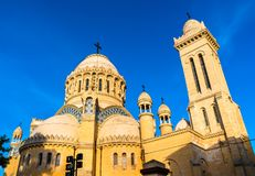 Our Lady of Africa Basilica in Algiers, Algeria. The Our Lady of Africa Basilica in Algiers, Algeria royalty free stock photos