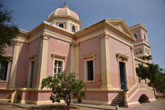 Our Lady of Angels Church, Pondicherry. India royalty free stock photo