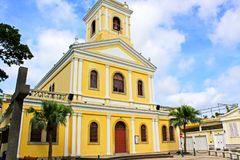 Our Lady of Carmel Church, Macau, China. The Our Lady of Carmel Church is a church located on the island of Taipa, Macau, China. The church was built in 1885 and royalty free stock photography