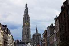 Our Lady cathedral in Antwerp Stock Images