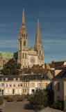 The Our Lady of Chartres cathedral, France. royalty free stock photo