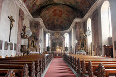 Our Lady church in Aschaffenburg, Germany Stock Images