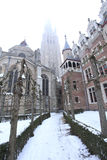 Our Lady church in Bruges Stock Photos