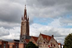 Our Lady church in Brugge Royalty Free Stock Photography