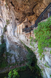 Our Lady of Covadonga cave Royalty Free Stock Photo