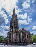 Our Lady and the English Martyrs Church. Completed in 1890, this big gothic revival Catholic church features an ancient Virgin Mar royalty free stock photography