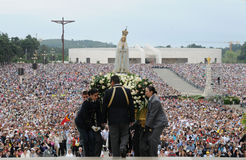 Our Lady of Fatima Pilgrimage, Christian Faith, Crowd Stock Image