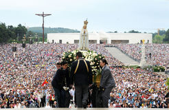 Our Lady of Fatima Pilgrimage, Christian Faith, Devotee Crowd Royalty Free Stock Photography