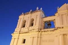 Our Lady of Grace Cathedral in Leon, Nicaragua. Our Lady of Grace Cathedral in Leon. Leon, Nicaragua Stock Photos
