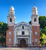 Our Lady Of Guadalupe Church , Puebla, Mexico. Puebla, Mexico - November 26, 2016: Our Lady Of Guadalupe Church , Puebla, Mexico stock photo