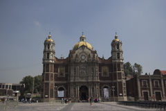 Our Lady of Guadalupe's Basilica. View of the facade of the Our Lady of Guadalupe's Basilica, Mexico City Royalty Free Stock Photos
