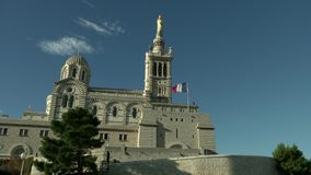 Our Lady Of The Guard Marseille stock footage