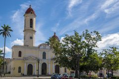 Cathedral of Cienfuegos, Cuba Stock Photography