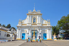 Our Lady of Immaculate Conception Cathedral. M Pondicherry,India stock photos