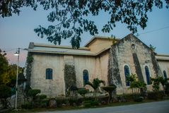 Our Lady of the Immaculate Conception catholic Church at Oslob in Sebu, Philippines Stock Image