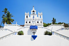 Our Lady of the Immaculate Conception Church. Goa, India royalty free stock image