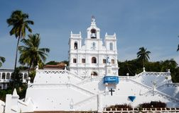 Our Lady of the Immaculate Conception Church - North Goa,India Stock Images