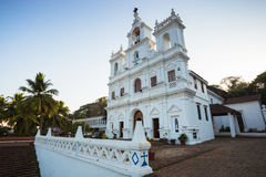 Our Lady of Immaculate Conception Church in Panjim. One of oldest churches in Goa 1540. Panjim Panaji - capital of Indian state of Goa and headquarters of Royalty Free Stock Photo