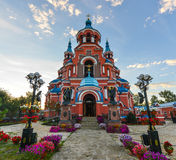 Our Lady of Kazan Church, Irkutsk. At sunrise. Exterior of building. Russian Orthodox church built in 1885-1892 stock photo