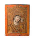 Our Lady of Kazan type of holy icon, representing the Virgin Mary and Jesus, 19th cent Stock Photo