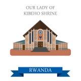 Our Lady of Kibeho Shrine in Rwanda. Flat vector i Stock Image