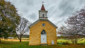 Our Lady of Loretto Church Musuem - Sauk County, Wisconsin stock photo