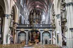 Our Lady of Mariastraat Church Bruges Royalty Free Stock Photography