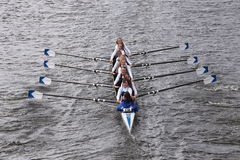 Our Lady of Mercyraces in the Head of Charles Regatta Women's Youth Eights Royalty Free Stock Images