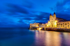 Our Lady of Mount Carmel in Balluta bay, Malta stock images